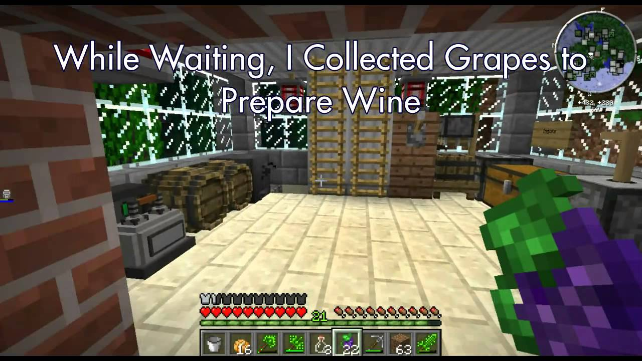 Minecraft Modded---Brewing Wine and Ale
