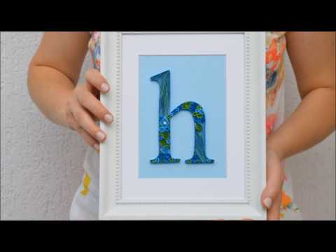 HOW TO ~ Framed Paper Quilling Letter