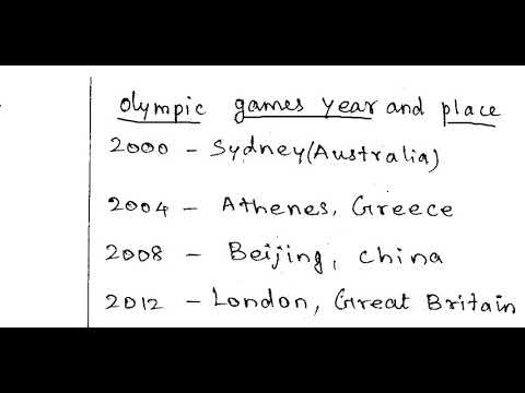 TNPSC CCSE 4 List of Olympic Games host cities-1|| year and location