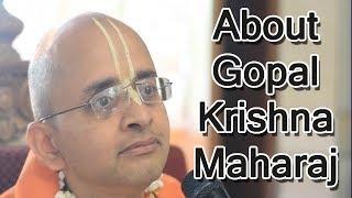 My Connection with HH Gopal Krishna Goswami -- HG RadheShyam Pr