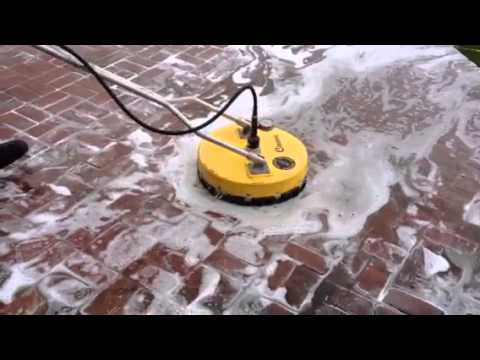 Dirty patio cleaning