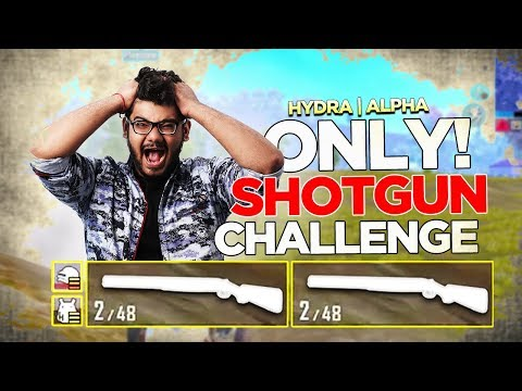 ONLY SHOTGUN CHALLENGE + CHICKEN DINNER! 😱😍 || H¥DRA | ALPHA PUBG MOBILE FUNNY HIGHLIGHT! 😎