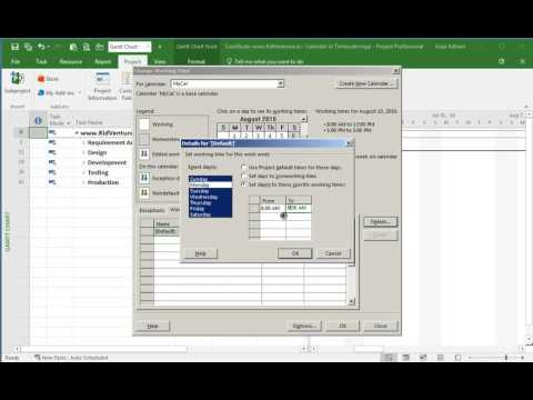 MS Project: Display non working time in timescale