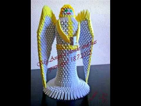 3d origami angel tutorial youtube
