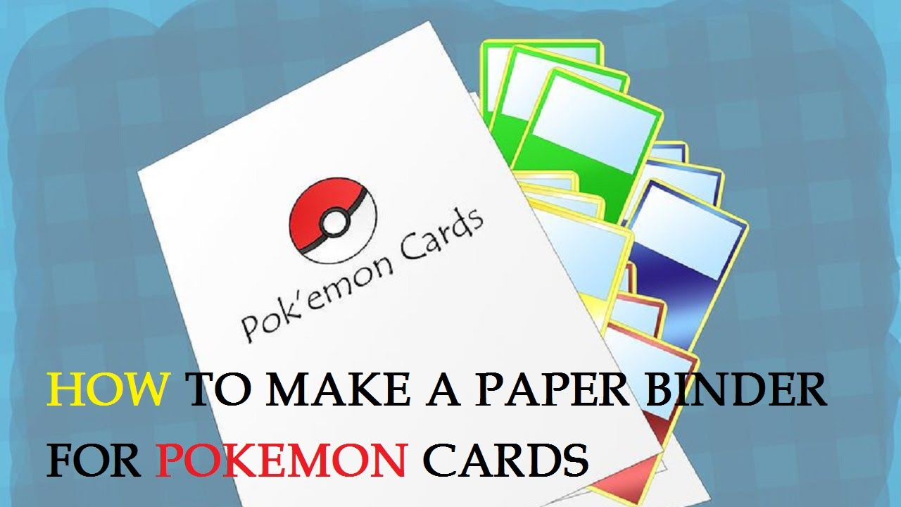 sc 1 st  YouTube & How to Make a Paper Binder for Pokemon Cards - YouTube