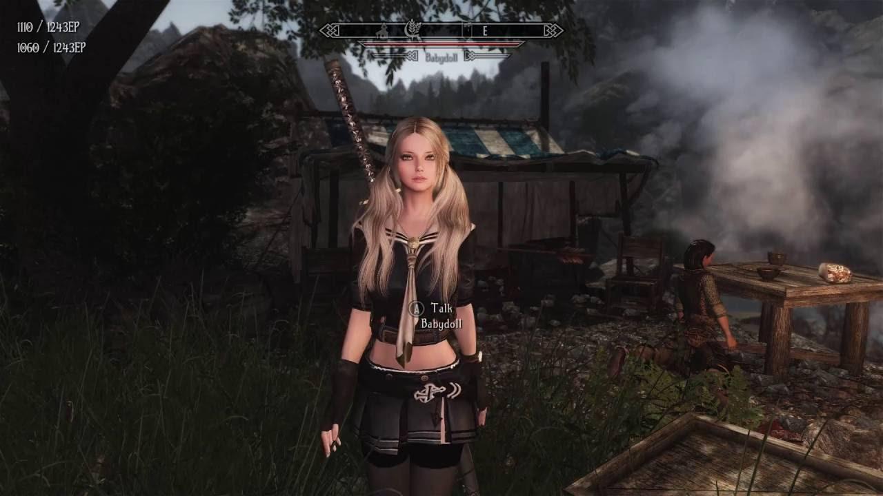 Skyrim Mods PC Babydoll As Amanda Enderal Follower YouTube