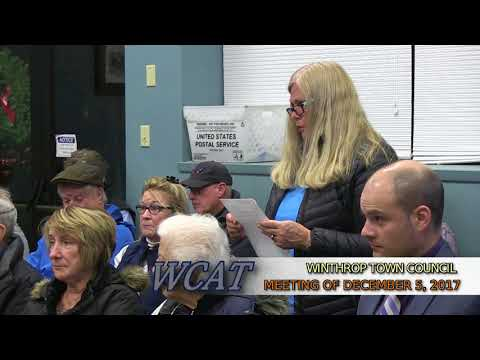 Winthrop Town Council Meeting of December 5, 2017