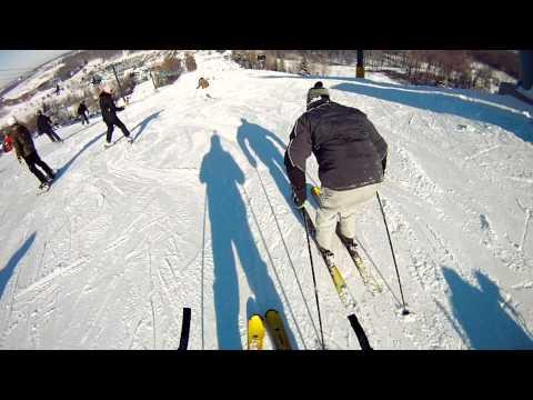 Skiing in Alpine Valley Wisconsin