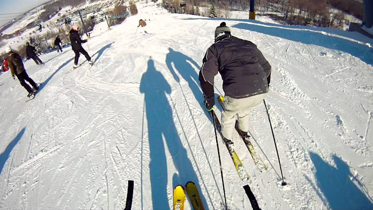 skiing in alpine valley wisconsin - youtube
