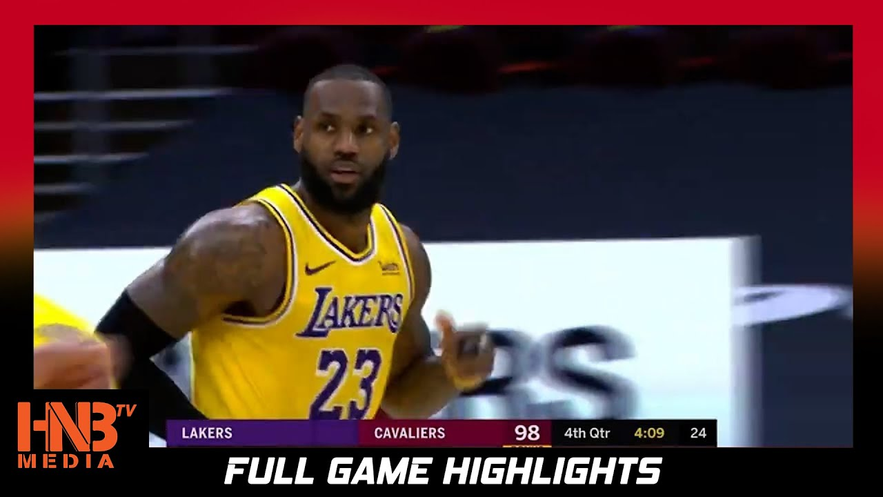 LA Lakers vs Cleveland Cavaliers 1.25.21 | Full Highlights