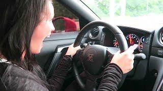 SHE DRAG RACED THE GTR!!