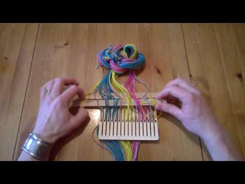 Band weaving tutorial, belt weaving, backstrap weaving