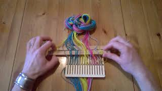 Band weaving tutorial, belt weaving, backstrap weaving