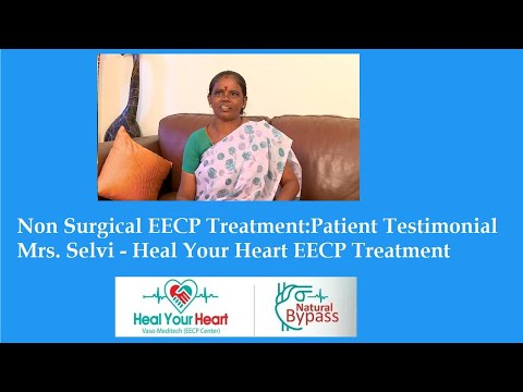 non surgical eecp treatment patient testimonial mrs selvi healyourheart eecp treatment