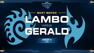 Lambo (Z) Vs Gerald (P) Game 2 WCS WINTER [ES] - Grupo D Europa