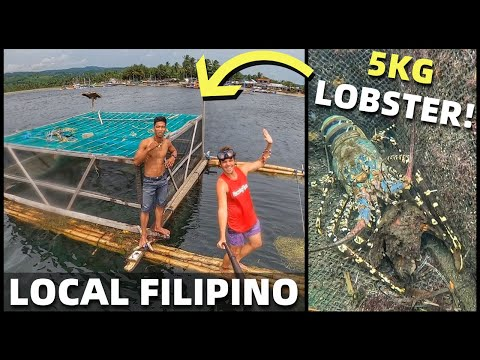 FILIPINO FISHING COMMUNITY - Island Home In The Philippines - GIANT LOBSTER IN DAVAO