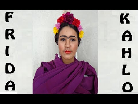 How to frida kahlo costume halloween make up dia de los muertos disfraz youtube - Deguisement frida kahlo ...