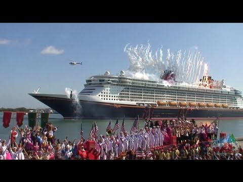 Full Disney Dream cruise ship Christening ceremony performance at Port Canaveral