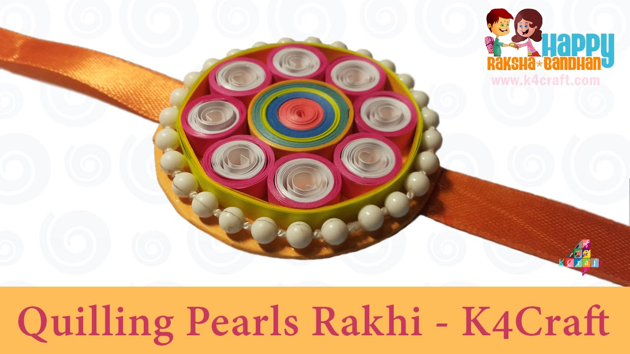 Papercraft DIY: Rakhi Making - Paper Quilling