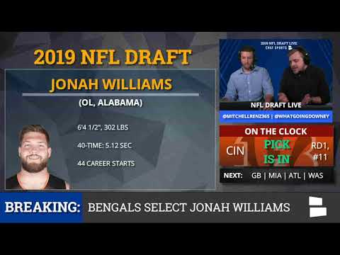 2019 NFL Draft: Cincinnati Bengals Select OT Jonah Williams From Alabama With Pick #11 In 1st Round