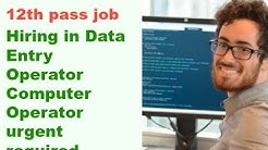 Data Entry Operator Computer Operator jobs for 12th pass