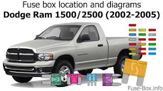 fuse box location and diagrams dodge ram 1500 2500 2002 2005 youtube dodge ram 1500 2500 2002