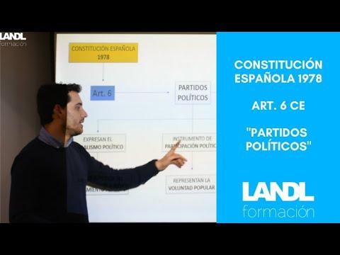 Constitución española 1978 para oposiciones y esquema artículo 6 título preliminar