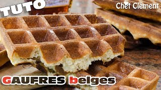 Recette INRATABLE : GAUFRES BELGES ou lyonnaises - Chef Clément