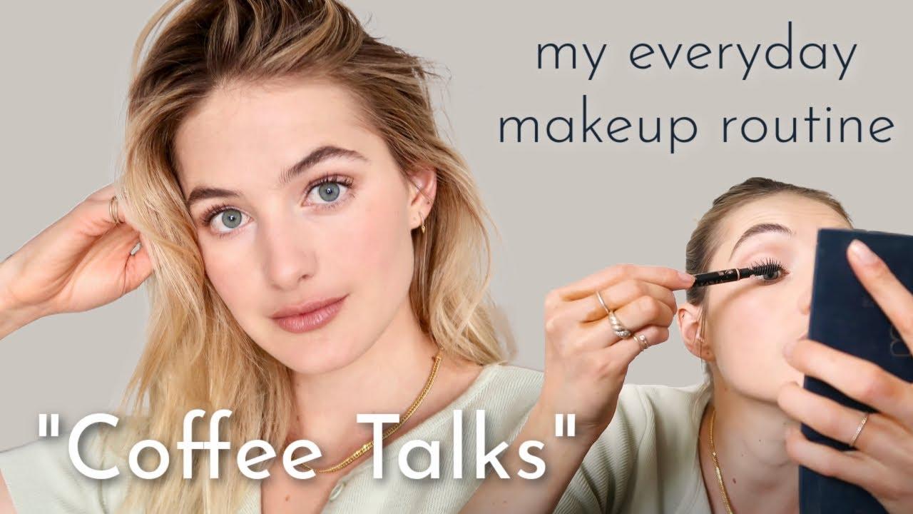 Natural Everyday Makeup Routine Coffee Talk | Simple, Light Lip & Eye Tutorial | Sanne Vloet