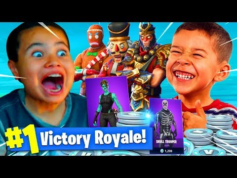 9 YEAR OLD BROTHER VS LITTLE KID SQUAKER! 13,500 VBUCKS WAGER OF THE YEAR! SOMEONE CRIED FORTNITE BR