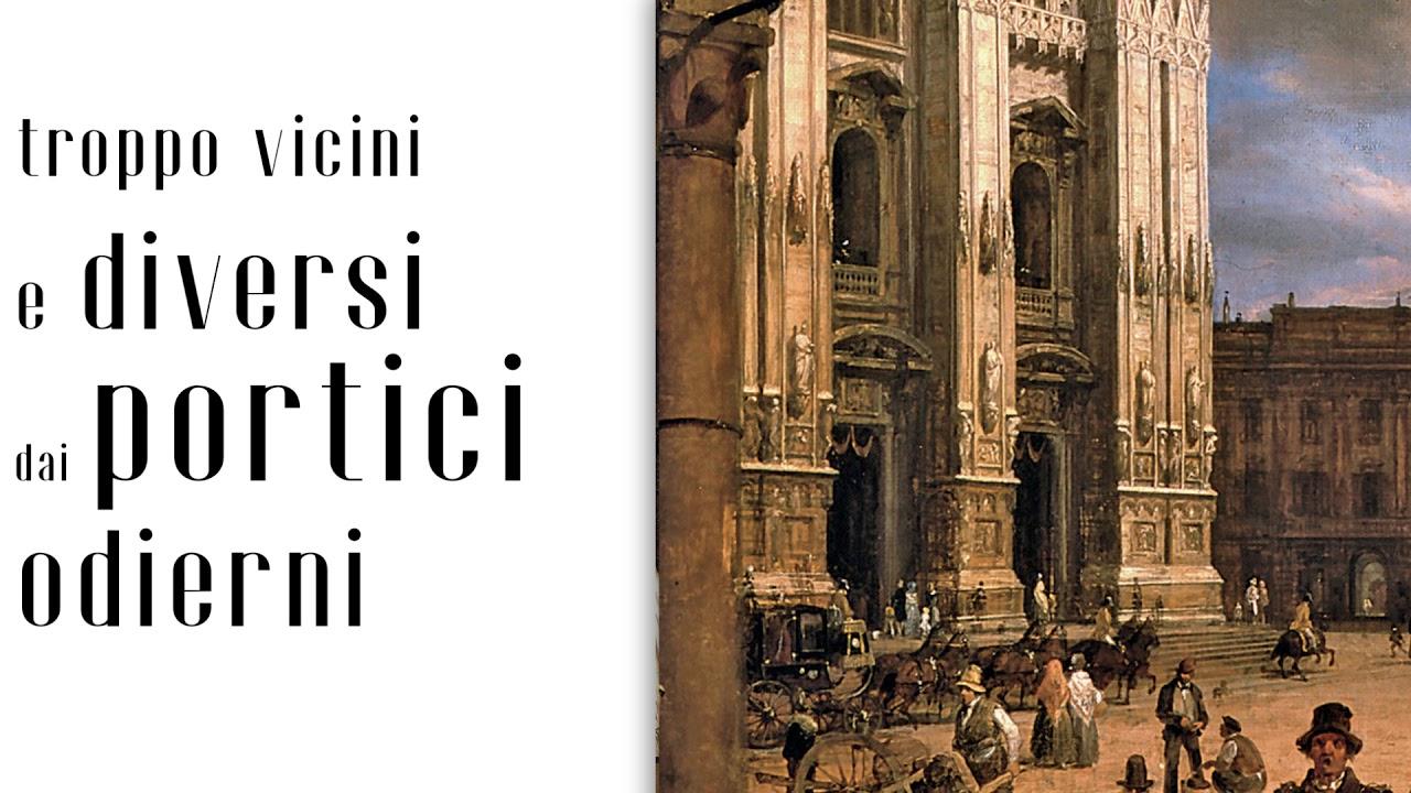 """Due vedute di Piazza Duomo"" di Angelo Inganni | Mostra ""Romanticismo"""