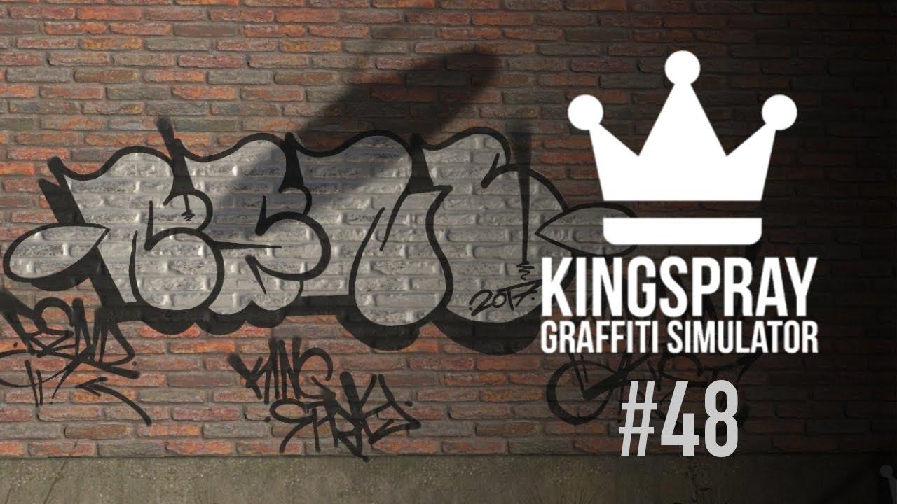 Kingspray graffiti ep48 spray painting a chrome and black throwie