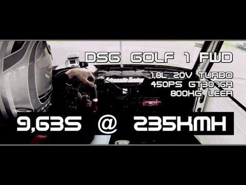 DSG Golf 1 FWD 20V Turbo 9,63s 235,9kmh AdrenalinTuning