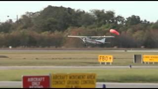 Small Engine Plane Makes Emergency Landing At David Wayne Hooks Airport - Houston Texas
