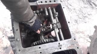 правильная установка шестерен вторичного вала коробки трактора ЮМЗ-6