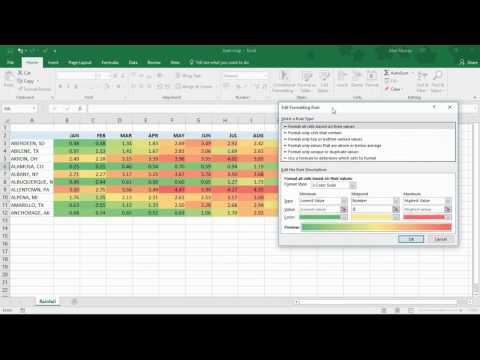 Create A Heat Map Using Conditional Formatting In Excel