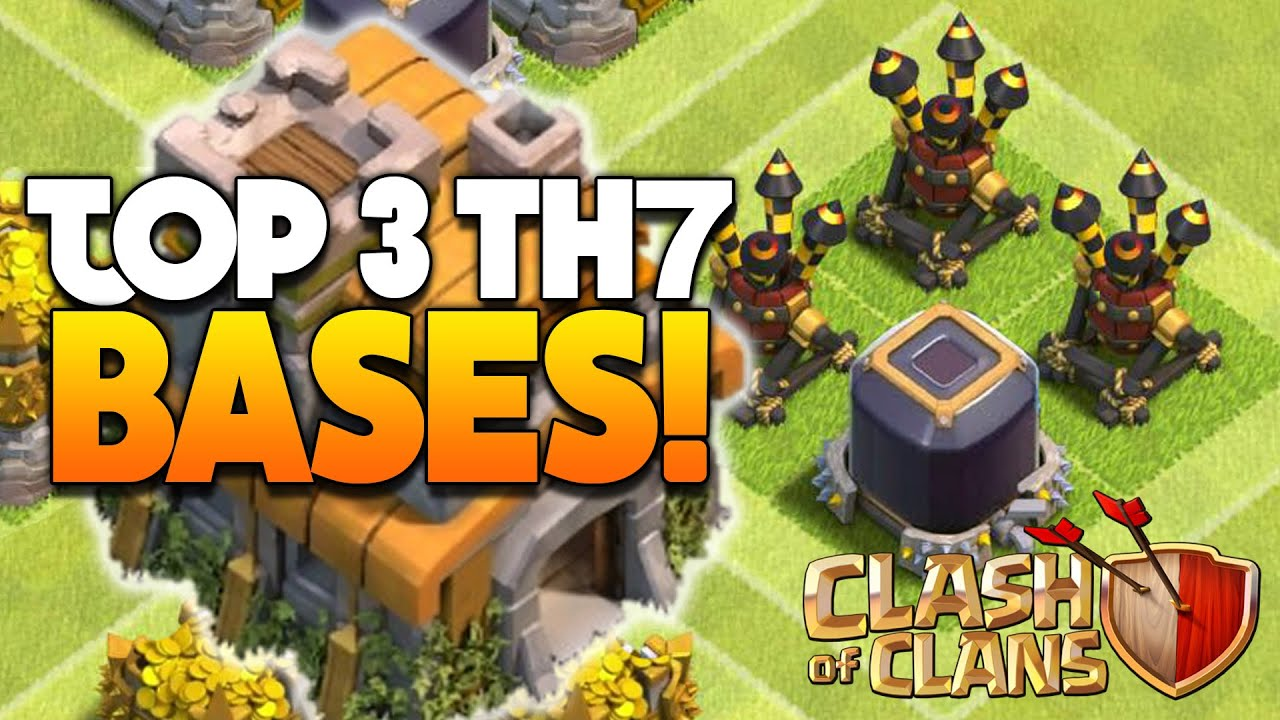 Clash of clans top 3 th7 farming base w 3 air defenses coc best