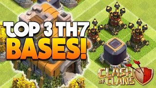 Clash Of Clans - TOP 3 TH7 FARMING BASE w/3 Air Defenses! - CoC BEST TOWN HALL 7 DEFENSE 2016!