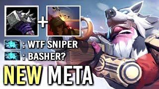 NEW BUILD Basher Sniper vs Storm Mid MegaBash + Headshot Epic Rank Gameplay WTF Dota 2