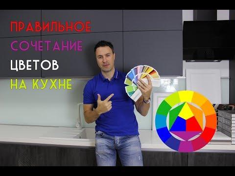 Правильное сочетание цветов в интерьере кухни. Цветовой круг. Правило 60-30-10