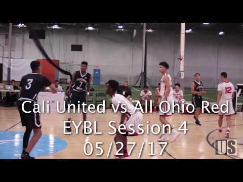 Game #3 Session 4 EYBL 2017: Cali United vs. All Ohio Red (FULL GAME)