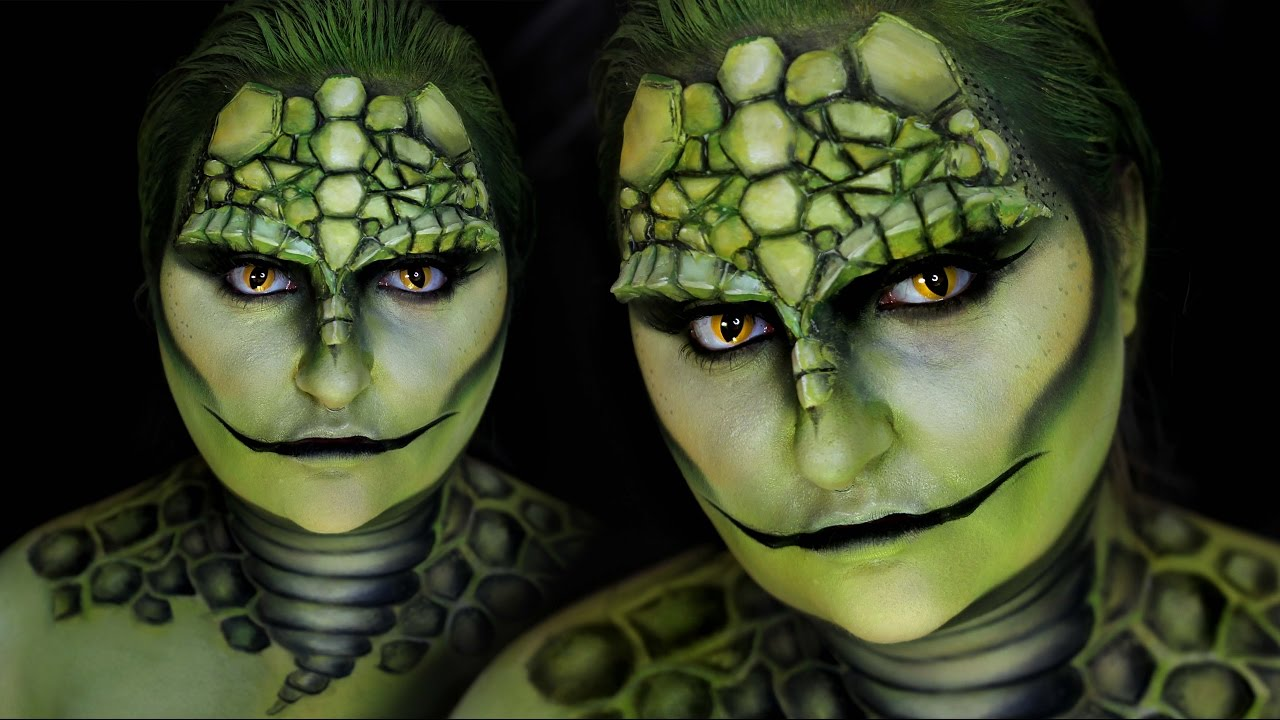 Reptile lizard halloween costume makeup tutorial reptile lizard halloween costume makeup tutorial rawbeautykristi youtube baditri Gallery