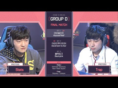 [2018 GSL Season 1]Code S Ro.16 Group D Match5 Trap vs Stats
