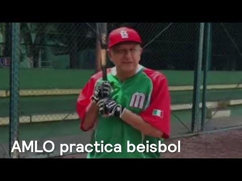 AMLO practica beisbol; afirma que promoverá el deporte - En Punto con Denise Maerker