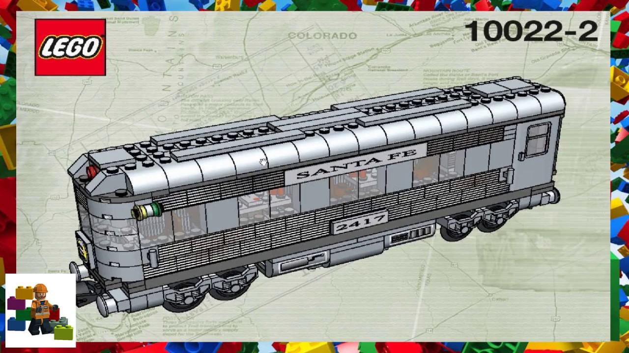 LEGO instructions - Trains - 10022 - Santa Fe Cars - Set II (Book 2)