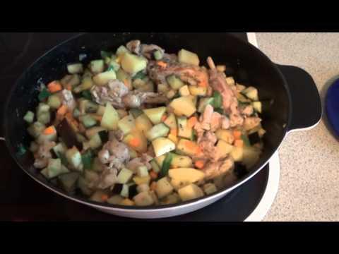 Рагу овощное с кроликом в мультиварке