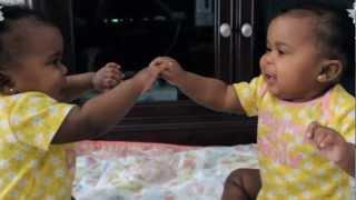 Baby twins Alayah and Milan talking