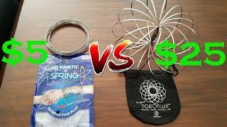 $5 Flow Rings VS $25 Flow Rings Kinetic Spring Toy.