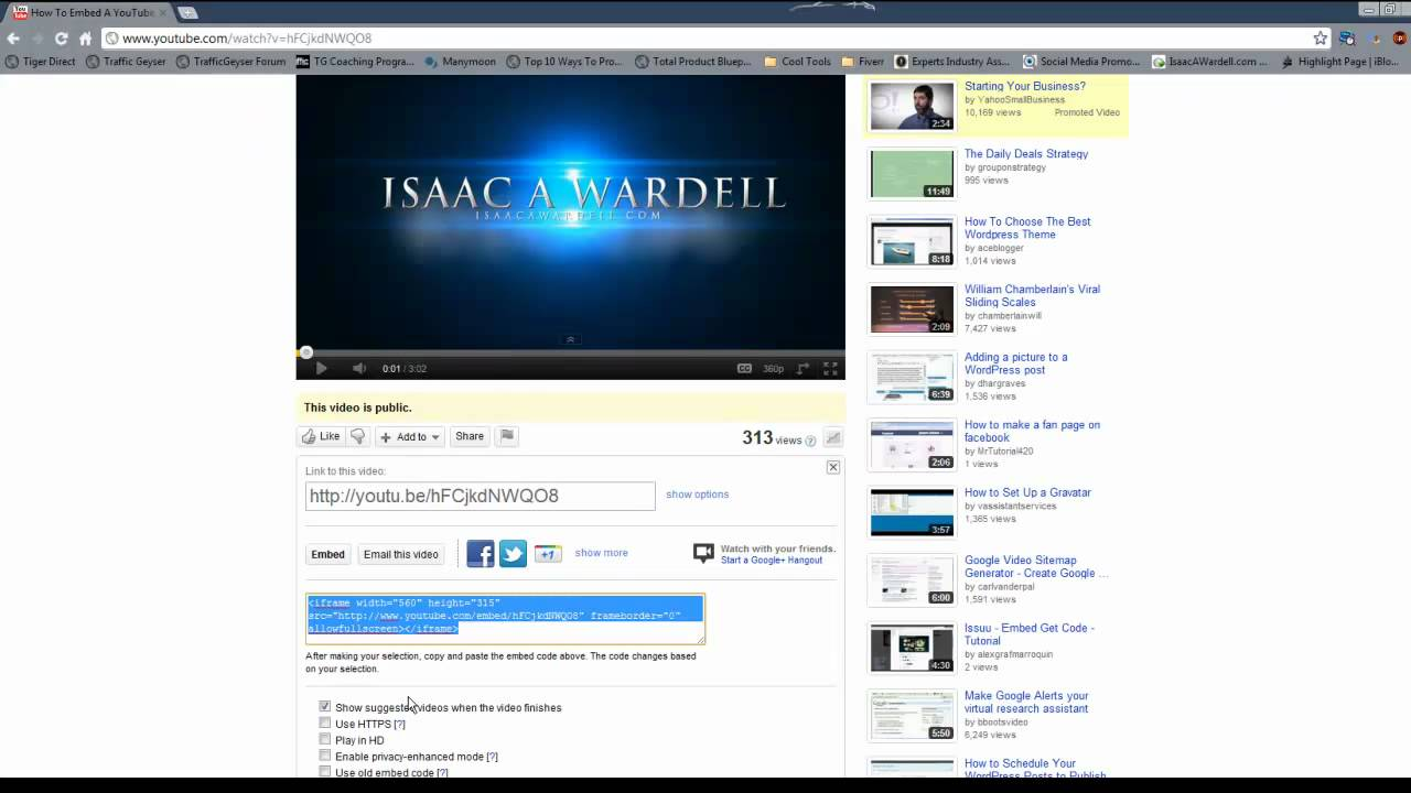 How to make your embed youtube video autoplay youtube ccuart Gallery
