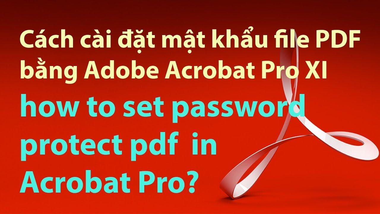 Cách cài đặt mật khẩu file PDF bằng Adobe Acrobat Pro – how to password protect a pdf ?